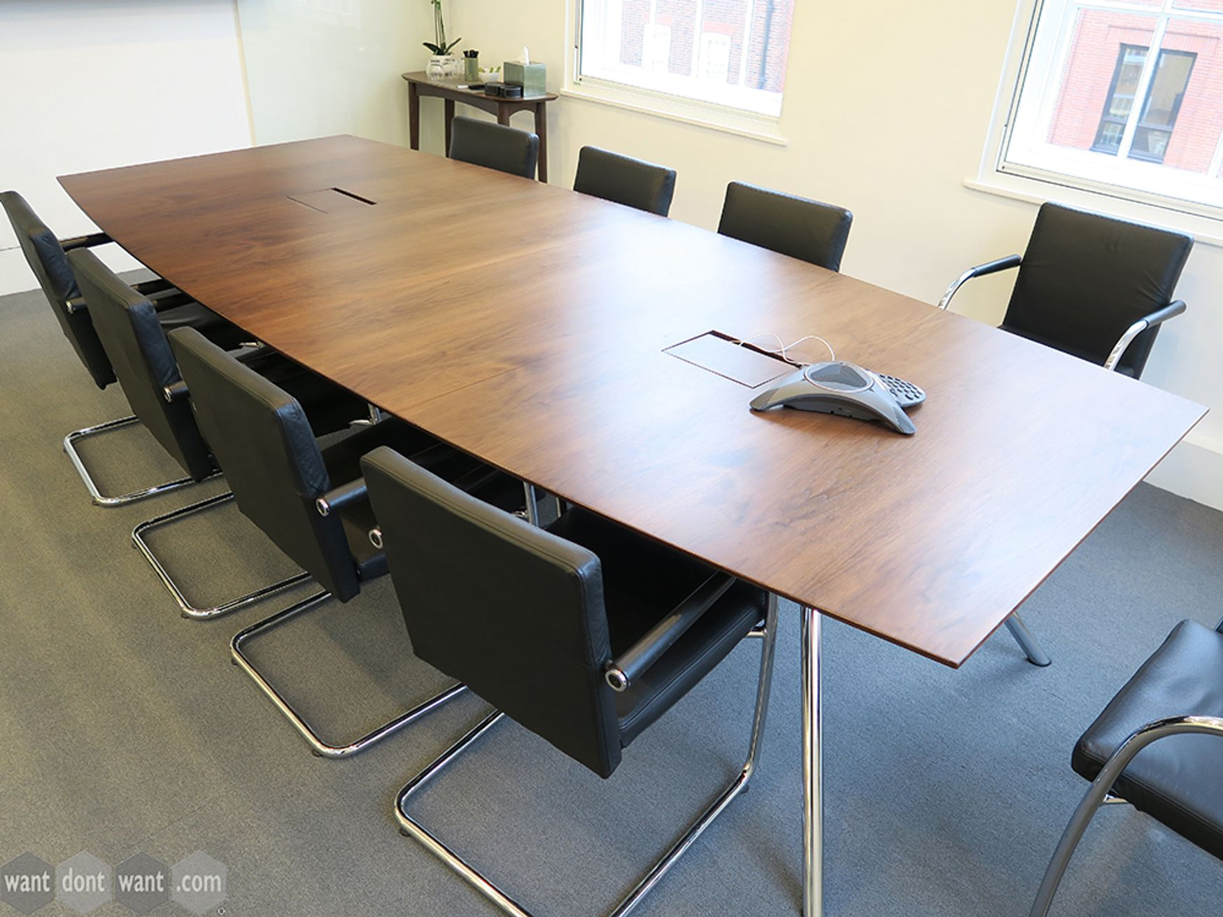 Used 3200mm Contemporary Walnut Meeting Table