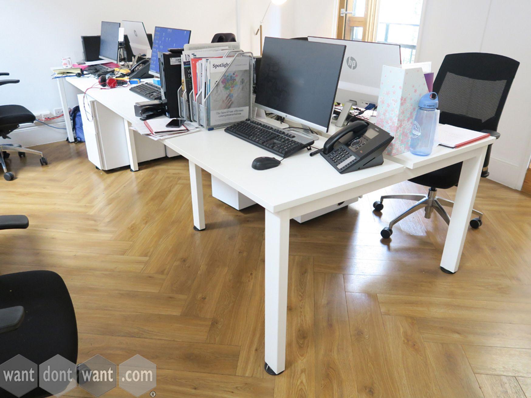 Used 1000mm White Bench Desks