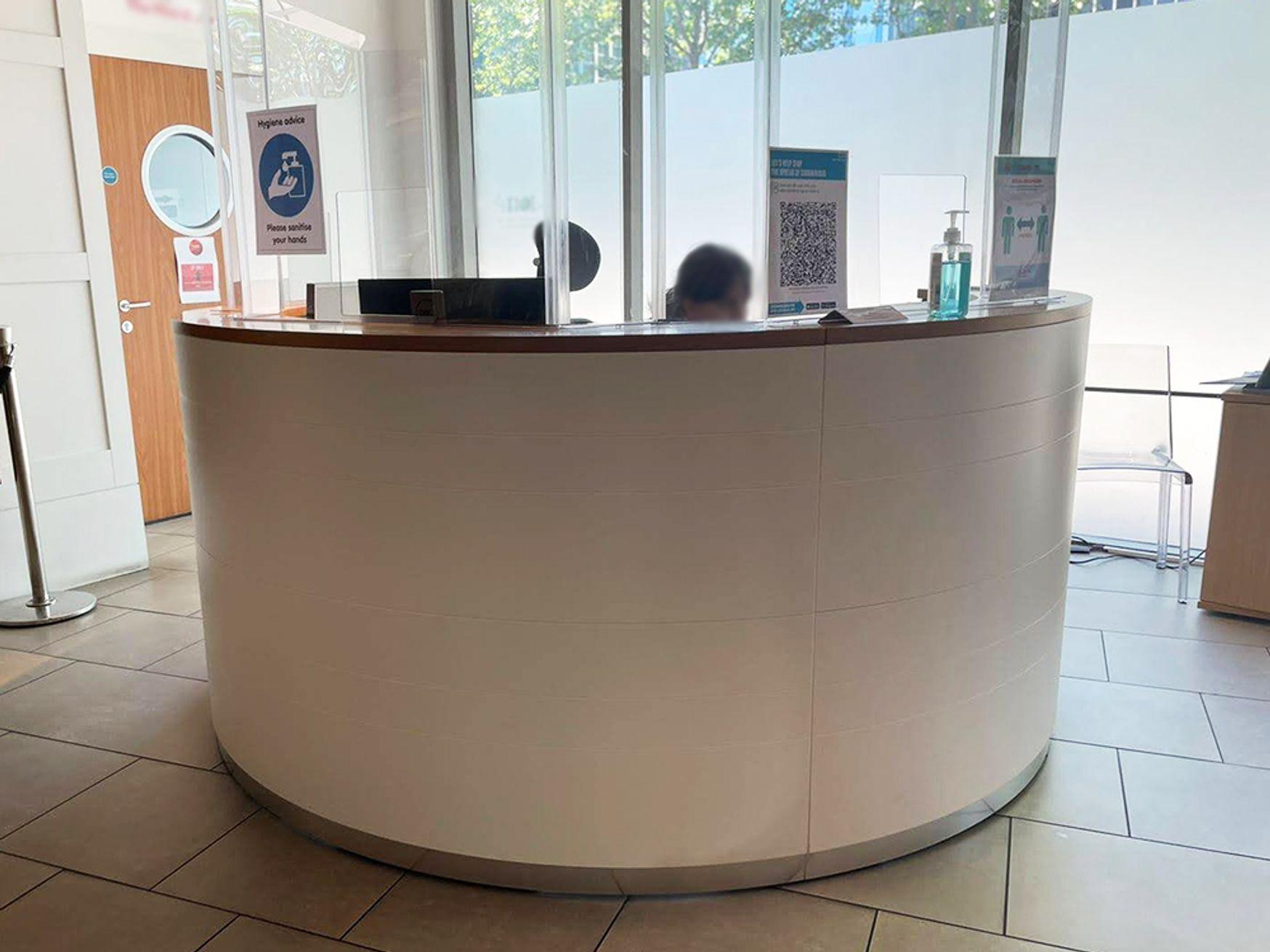 Used Circular Reception Desk