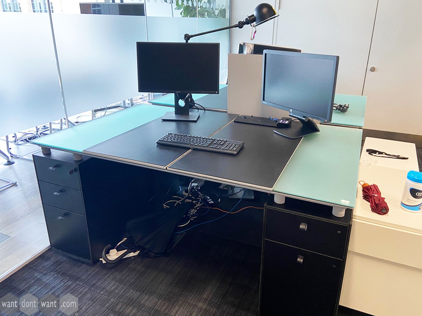 Used Bulo Executive Desks with Integrated Storage