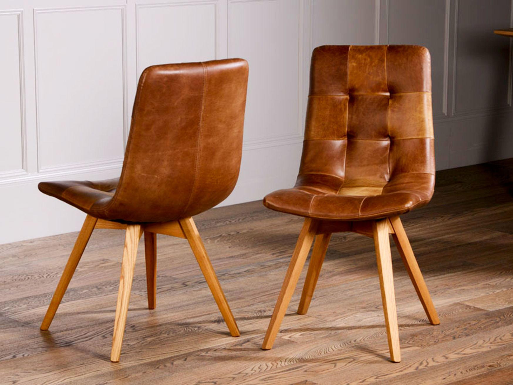 Brand New Vintage Leather Breakout Boardroom Chairs - Available in Grey or Brown