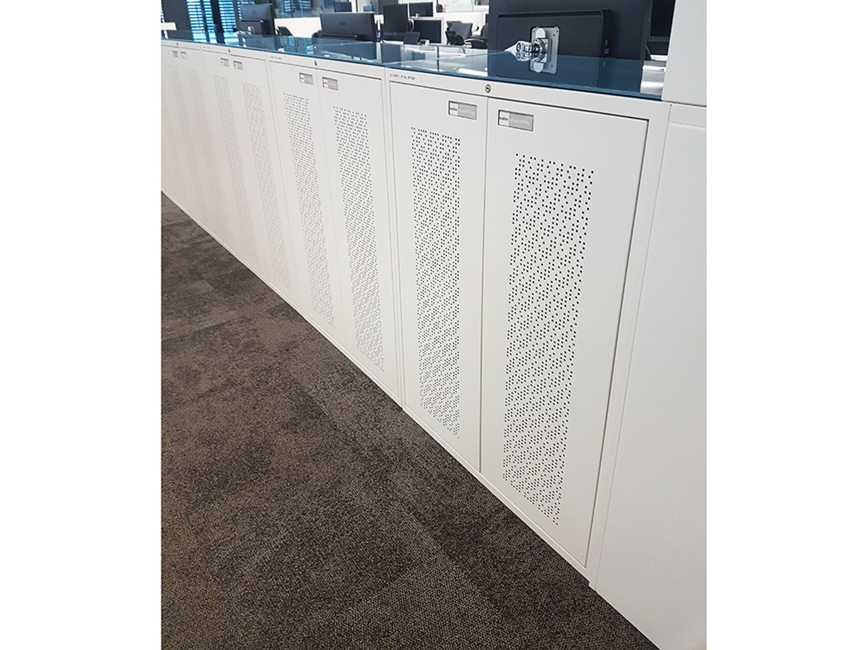 Used Perforated Double Door Maine Cupboards with Removable Tops