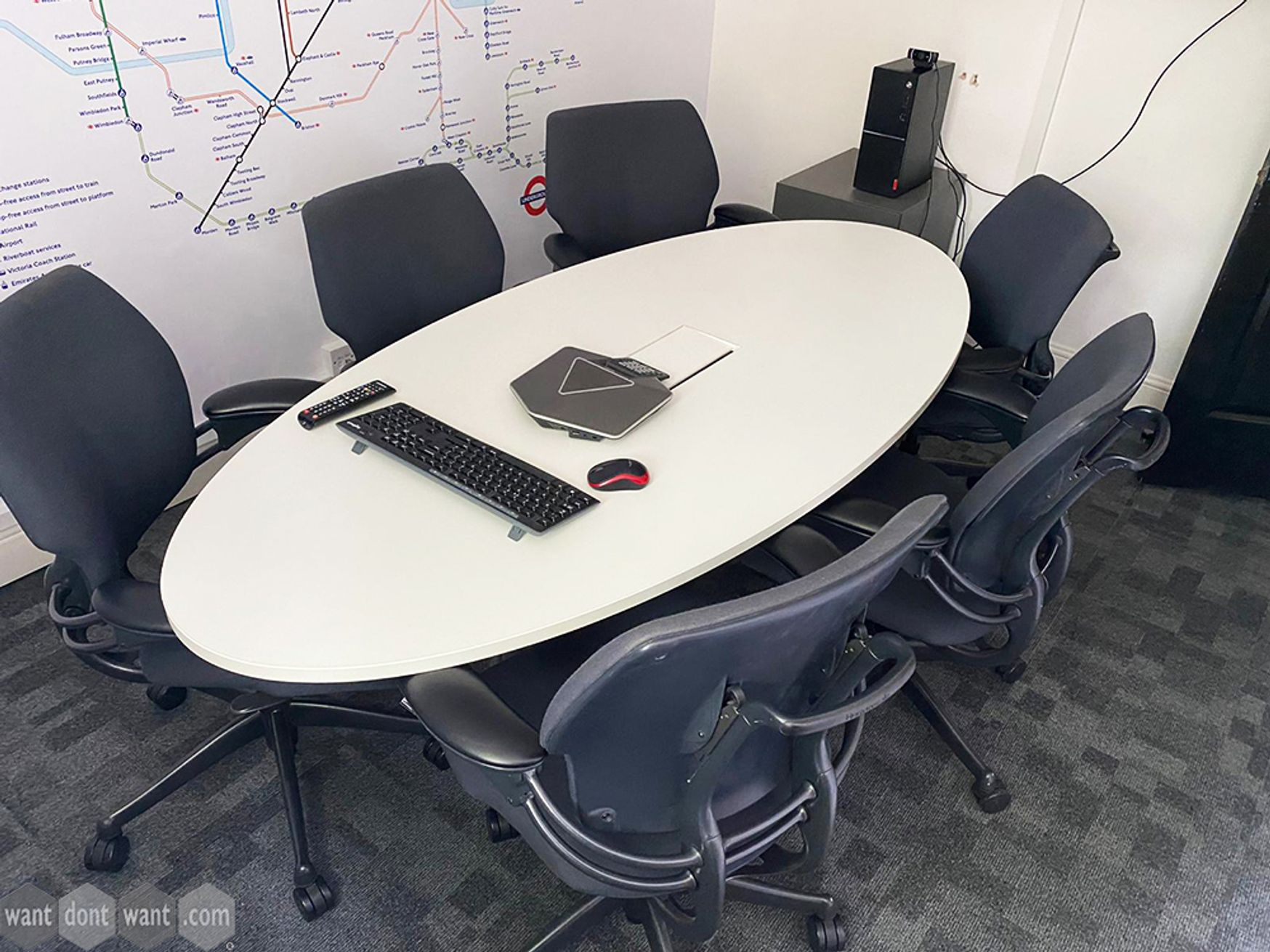 Used 2000mm White Oval Table