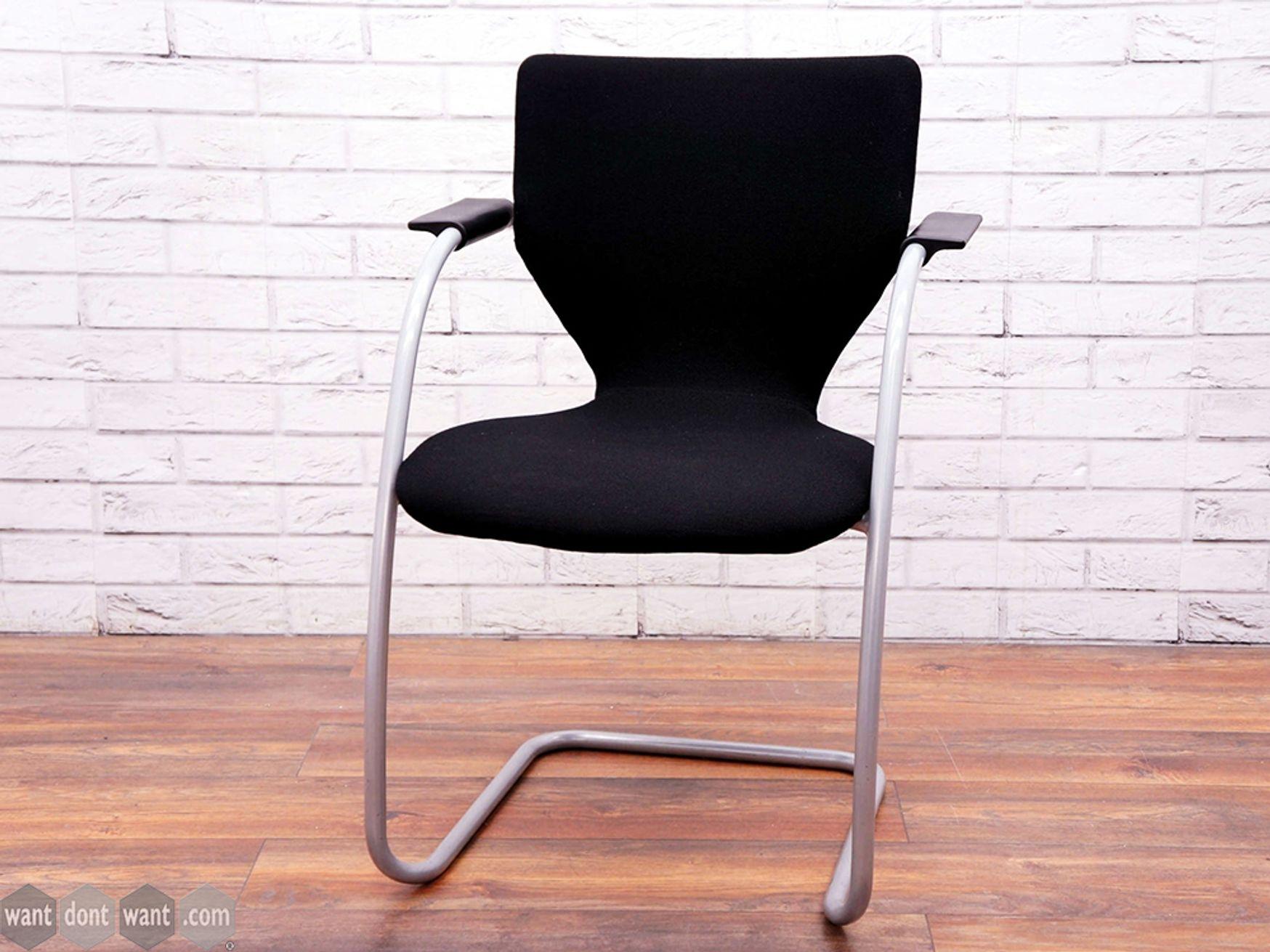 Used Orangebox X10-CA Black Fabric Meeting Chairs