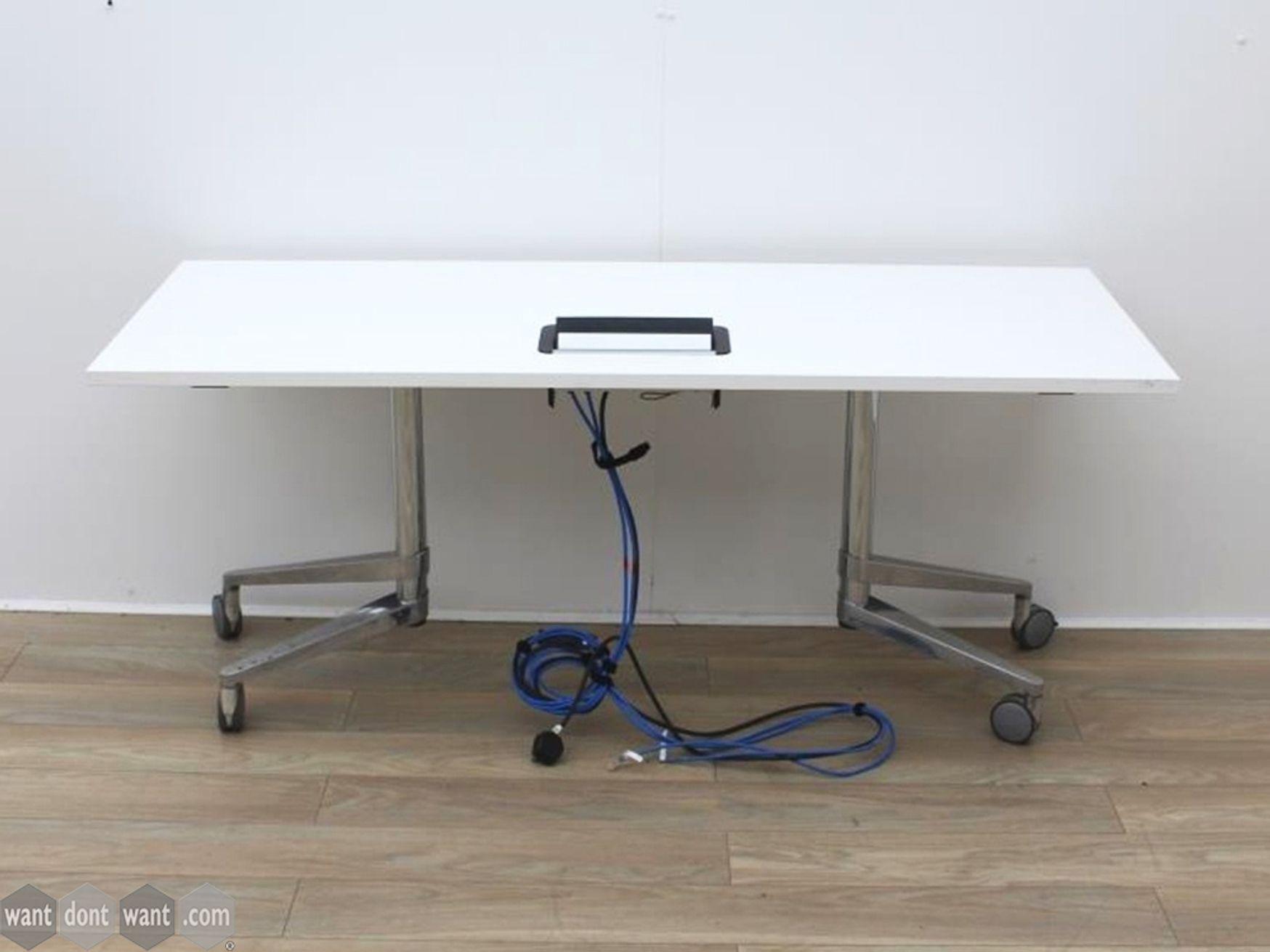 Used 1650mm Wiesner Hager Folding Flip Top Tables