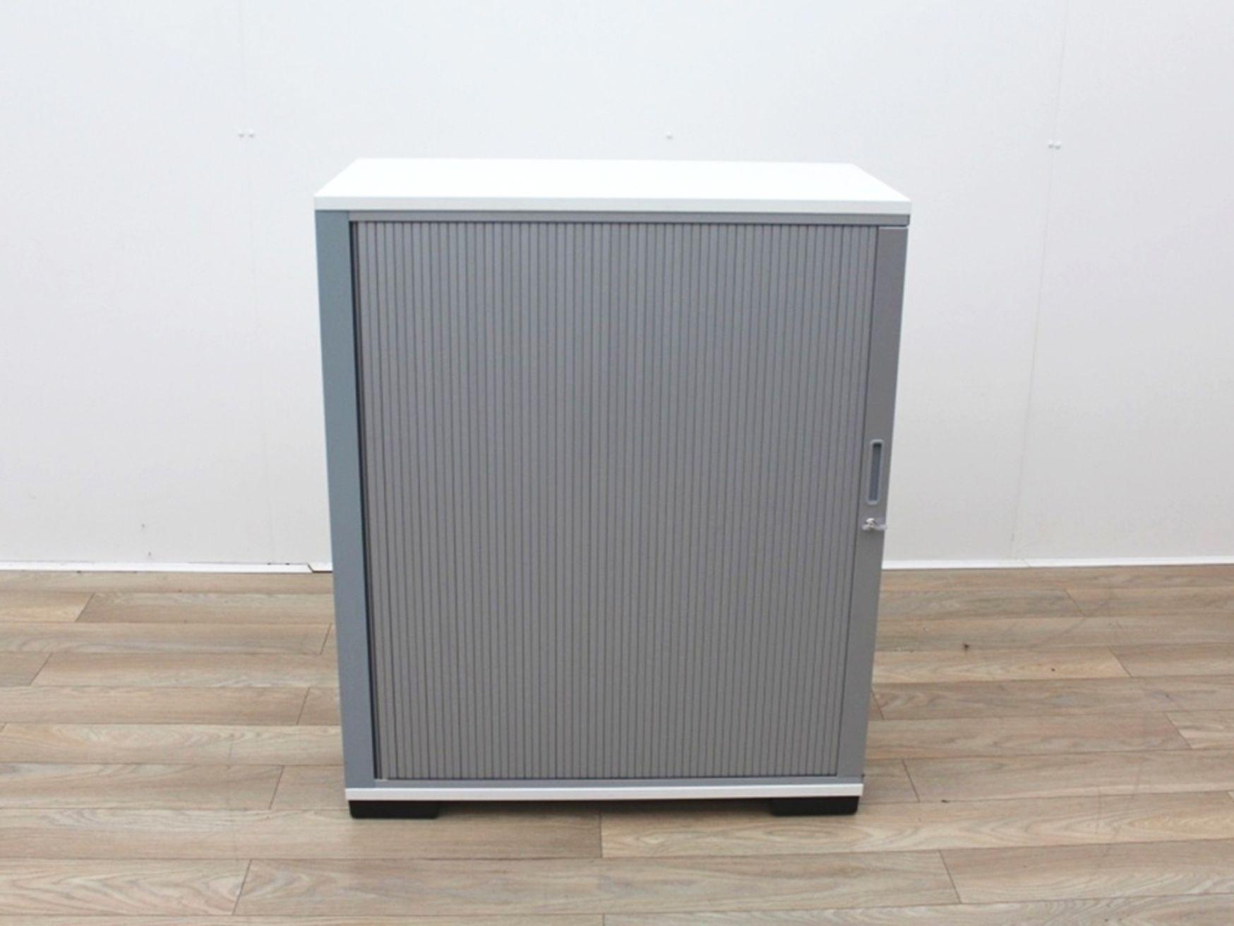 Used Tambour Door Storage Cupboard with Shelves