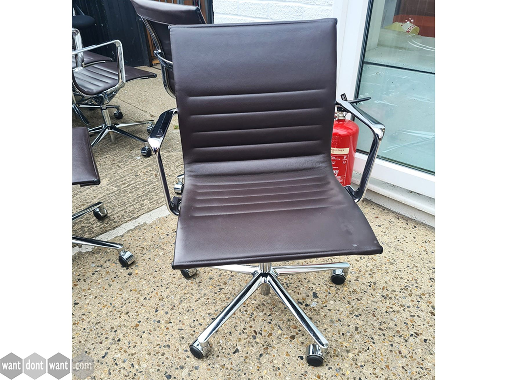 Used ICF Una Chairs in Brown Leather