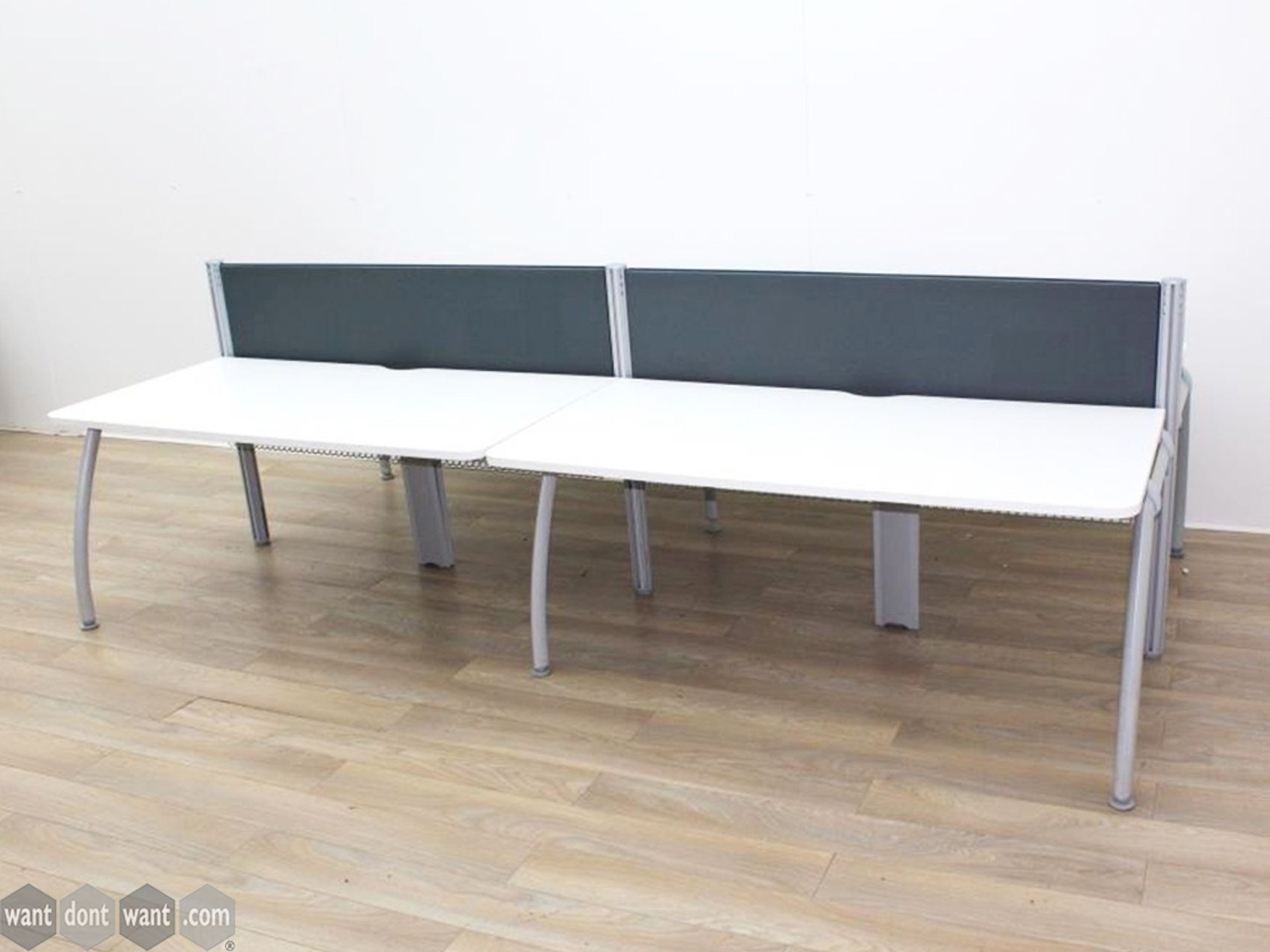 Used 1600mm White Senator Bench Desks