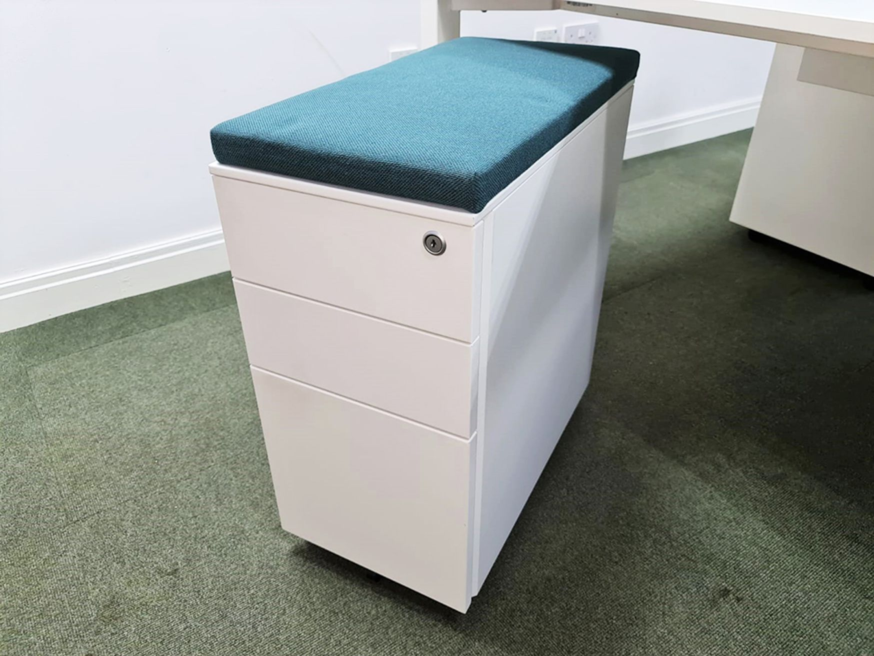 Used Slim White Pedestals Available with or without Cushions - Various Colours