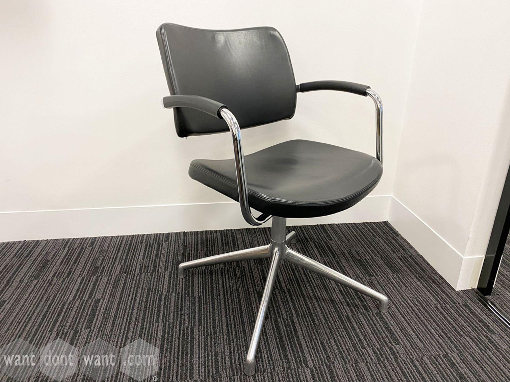 Used Boss Design Pro 4-star swivel meeting chairs