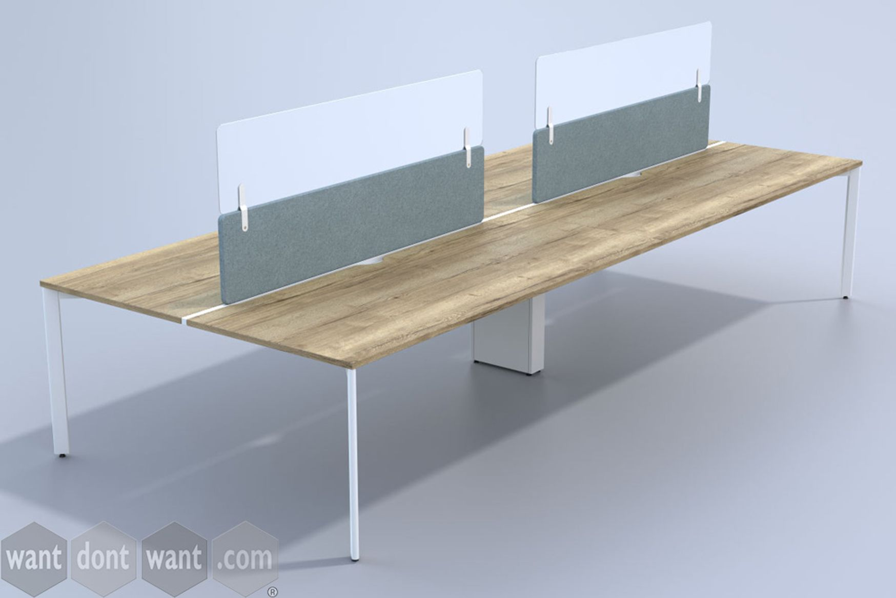 Universal glazed extension screens to be clamped on to your existing desk dividing screens.