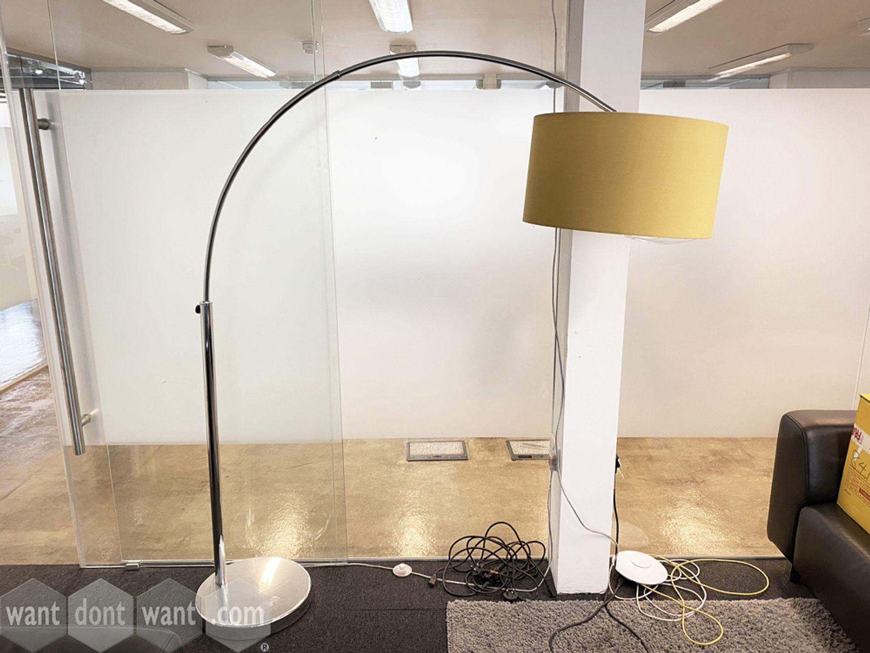 Used curved floor lamp