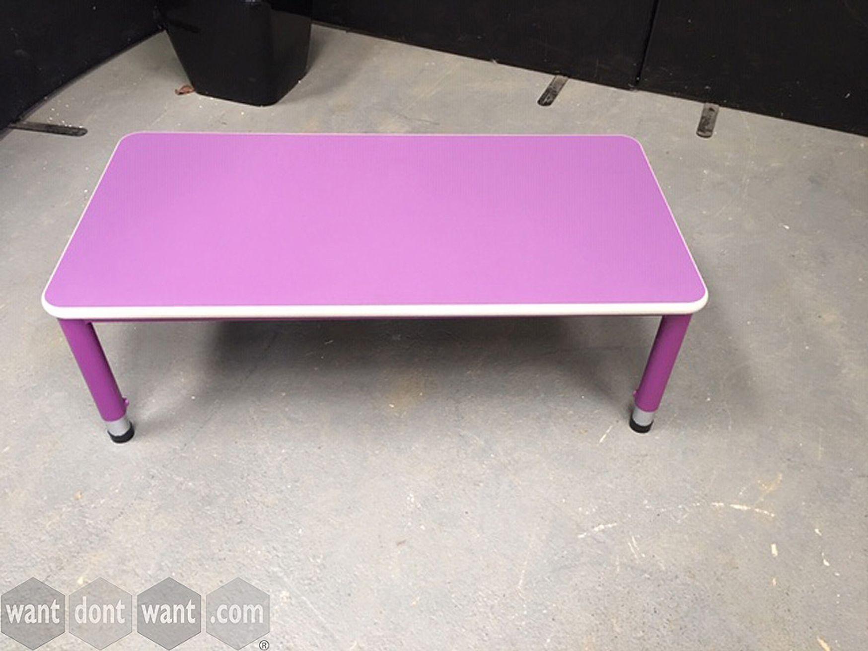 Used light purple low table