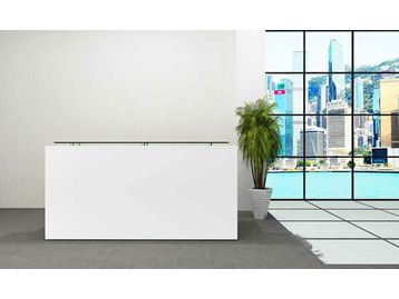 Our best selling range of budget BRAND NEW office furniture. Mostly available from stock. Click photo to view range - quick delivery! This cool white reception desk