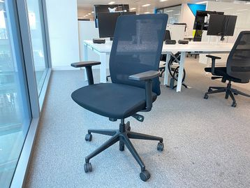 Used Bestuhl 'S30' fully adjustable task chairs with mesh backs and black upholstered seat