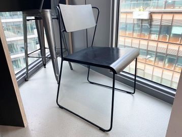 Used 'Social Transit' chairs with black ash seat and back on a metal wired frame black base