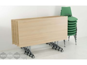 Brand new Flip Top Folding Tables with Casters