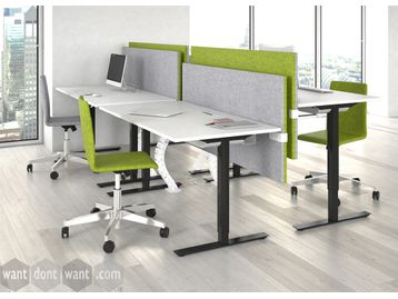 Electric height adjustable desks.