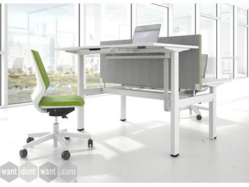Electric Back-To-Back Sit/Stand Height Adjustable Desks