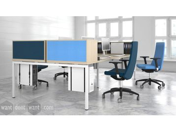 Brand New Bench Desks with Desktop Storage
