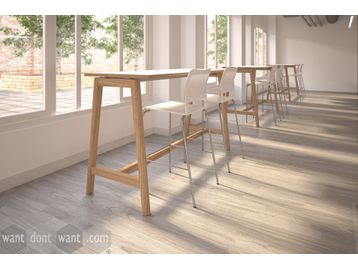 Brand New Solid Wooden Leg High Table with MFC Top