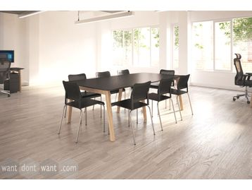 Brand new Boardroom Table with Solid Wooden Legs and High Pressure Laminate Top