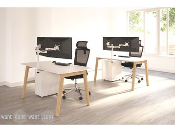 Brand New Solid Wooden Leg desk Range with MFC Tops