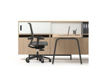 2021 Range of Desks Supported By Storage. Many configurations and finishes available.