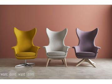 Classically designed armchairs with a contemporary edge
