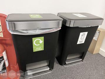 Used 'Simplehuman' waste bins