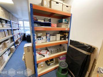 Used Orange & Blue metal adjustable racks (1230mm wide)