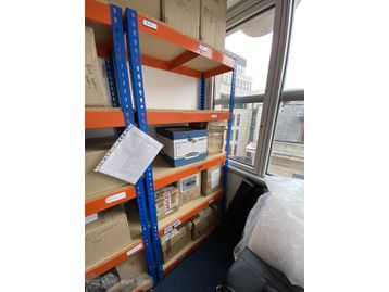 Used Orange & Blue Metal Rack (930mm wide)