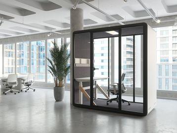 A modular contemporary design meeting/work booth.