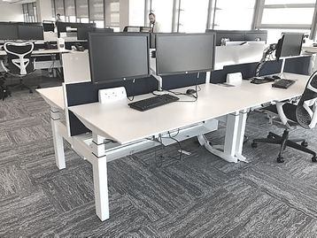 Fantastic used Ahrend Sit/Stand desks including screens