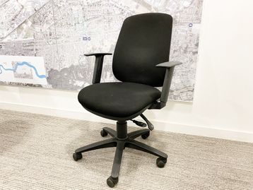 Used Sven Christiansen fully adjustable task chairs with pump-up lumbar support.