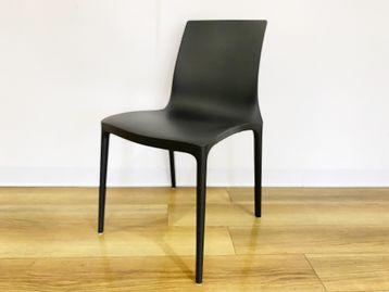 Used Brunner black plastic 'Twin' stacking chairs