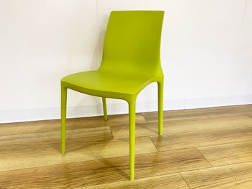 Used Brunner lime green plastic 'Twin' stacking chairs
