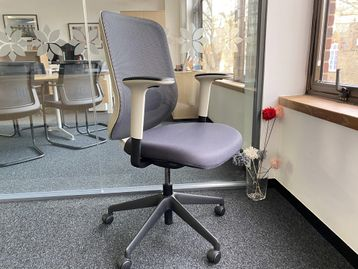 Used Orangebox 'Do' chairs with mesh back, stone coloured back frame and arm shroud