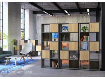 New smart room-dividing storage/display units