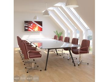 Brand New stylish conference swivel chairs with medium back.