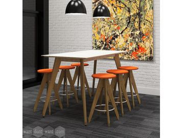 Brand new collaborative high table with matching frame stools