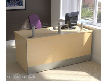 Brand New Reception Desk with glass counter top