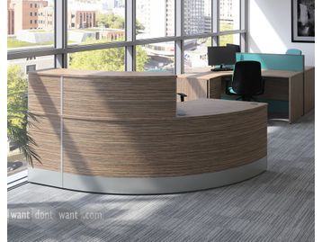 Smart brand new curved reception desk