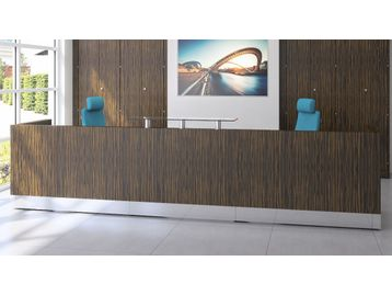 Magnificent veneer reception desk