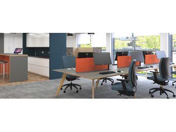 Stylish, Elegant and Strong Timber Leg Bench Desks