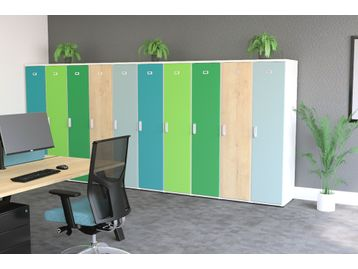 Customisable Lockers with a wide range of colour options