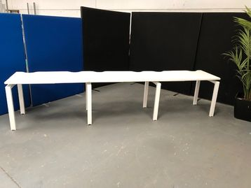 4 x 3-person side by side bench desks (12 x desk positions in all) Price is per desk position