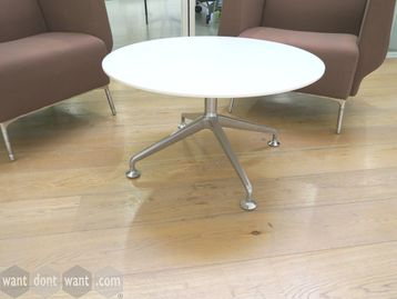 Orangebox 'Dune' white circular coffee table