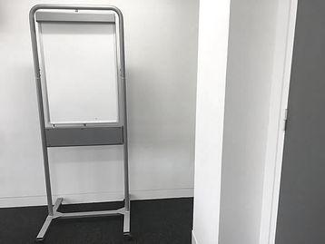Swivel dry-wipe board on stand