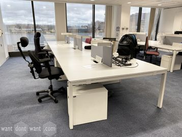 Used Vitra 'WorKit' bench desks in various configurations (each position 1800mm wide)